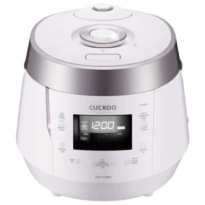 10-Cup High Pressure Rice Cooker in White