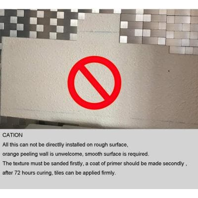Subway Metal Brushed Silver Peel and Stick Backsplash Tile 11.3 in. x 11.1 in. ( 8.7 sq. ft./Pack)