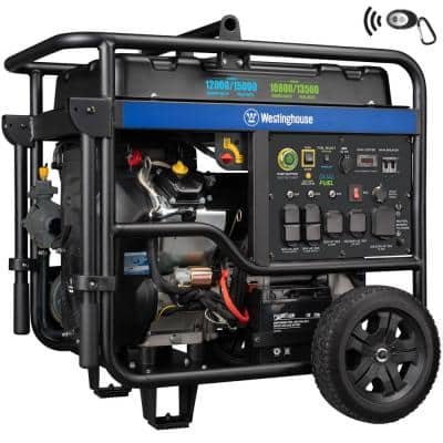 WGen12000DFc 15,000/12,000-Watt Dual Fuel Portable Generator with Remote Start & Transfer Switch Outlet for Home Backup