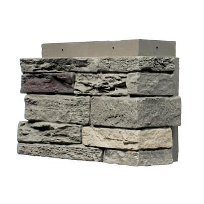 Slatestone Pewter 4.5 in. 12.75 in. Faux Stone Siding Corner (4-Pack)
