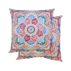 Hunza Ginger Square Outdoor Throw Pillows (2-Pack)
