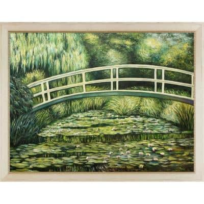 """52.5 in. x 40.5 in. """"White Water Lilies, 1899"""" by Claude Monet Framed Wall Art"""