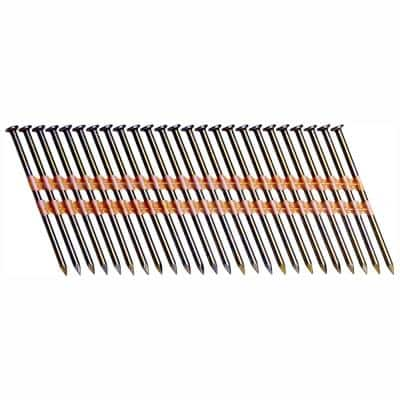 3-1/4 in. x 0.131 Plastic Bright Vinyl-Coated Steel Smooth Shank Round Framing Nails (4,000 per Box)