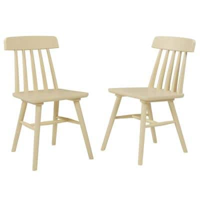Brookside Yellow Armless Wood Dining Chair (Set of 2)