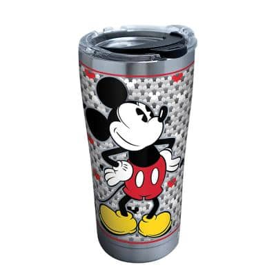 Disney Silver Mickey 20 oz. Stainless Steel Tumbler with Lid