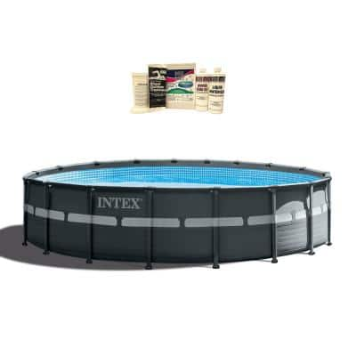 18 ft. W x 52 in. H x 52 in. D Ultra XTRA Frame Above Ground Pool with Pump and Winterizing Kit