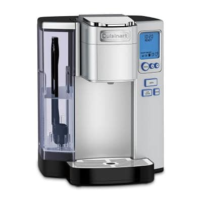 Premium Programmable Silver Single Serve Coffee Maker