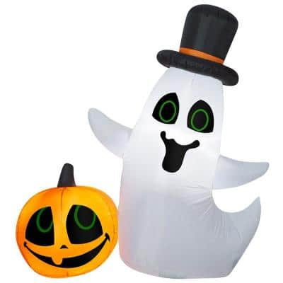 4 ft. Halloween Inflatable Ghost and Pumpkin