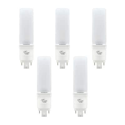 26-Watt Equivalent Horizontal CFLNI Hybrid Type A+B PL LED Light Bulb in Bright White 4000K (5-Pack)
