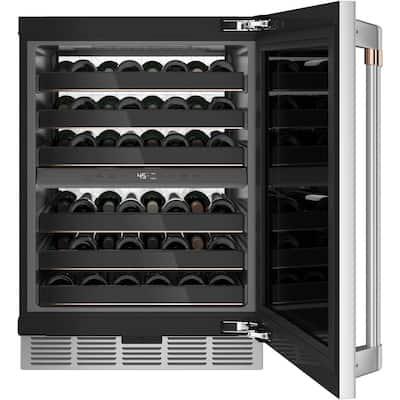 Smart 24 in. 46-Bottle Wine Beverage Cooler in Stainless Steel