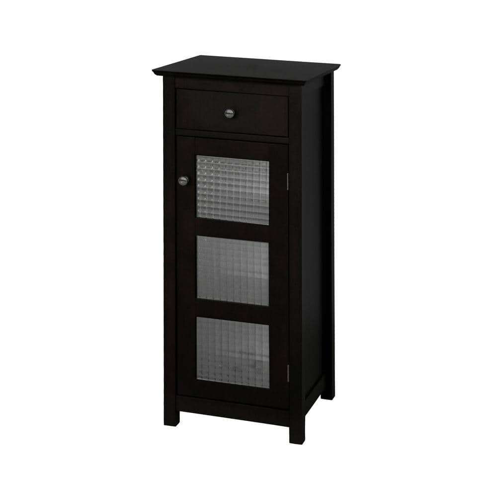 Elegant Home Fashions Cape Cod 15 In W X 36 In H X 14 In D Bathroom Linen Storage Floor Cabinet In Espresso Hd16223 The Home Depot