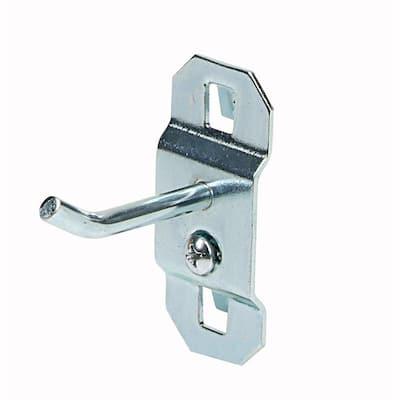 1 in. Single Rod 30 Bend Stainless Steel LocBoard Hooks (3-Pack)