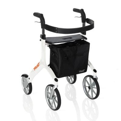 4-Wheels Let's Fly Rollator with in White