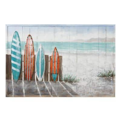 Surfer's Paradise Framed Nature Photography Wall Art 32 in. x 48 in.