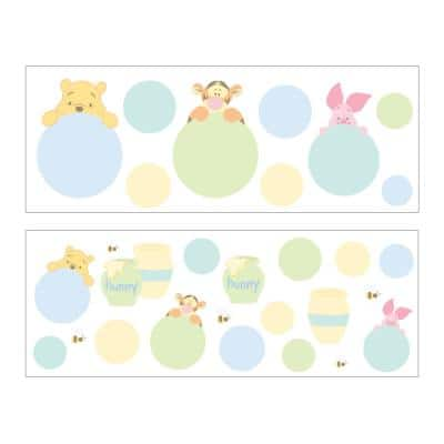 Winnie The Pooh and Friends Blue and Green Wall Decals