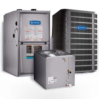 Signature 5 Ton 14.25 SEER Upflow 95% AFUE 110,000 BTU Complete Split System Air Conditioner with Gas Furnace