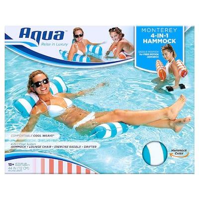 Deluxe Monterey XL Hammock 4-in-1 Multi-Purpose Pool Float, Teal (2-Pack)