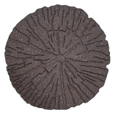 18 in. x 18 in. Earth Cracked Log Rubber Step Stone