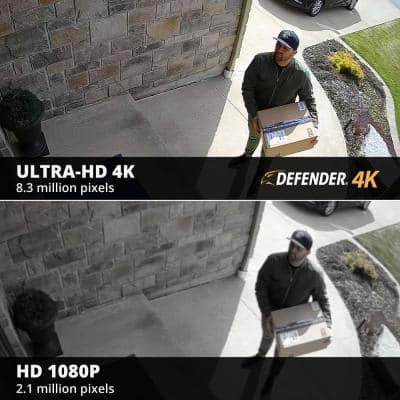 8-Channel Ultra HD 4K (8MP) 2TB DVR Wired Security Camera System with Remote Viewing and 7 Cameras