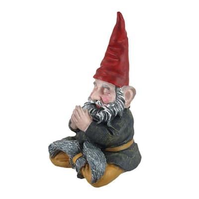 "11 in. H Meditating ZEN ""Mordecai"" the Yoga Garden Gnome Figurine Statue"