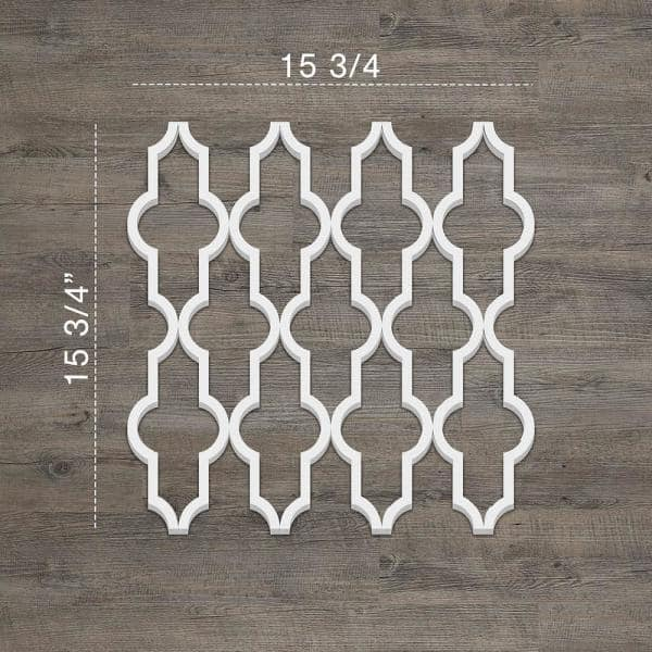 Ekena Millwork 3 8 X 15 3 8 X 15 3 8 Casablanca Decorative Fretwork Wall Panels In Architectural Grade Pvc Walp16x16csb The Home Depot