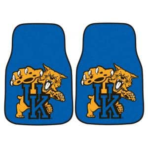 University of Kentucky 18 in. x 27 in. 2-Piece Carpeted Car Mat Set