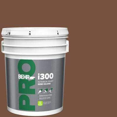 Behr Pro 5 Gal 240f 7 Root Beer Semi Gloss Interior Paint Pr37305 The Home Depot