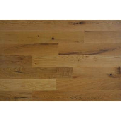 1/8 in. x 4 in. x 12-42 in. Oak Peel and Stick Gold Wooden Decorative Wall Paneling (20 sq. ft./Box)