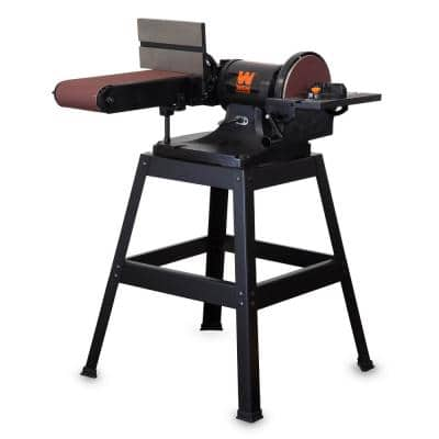6 x 48-Inch Belt and 9-inch Disc Sander with Stand