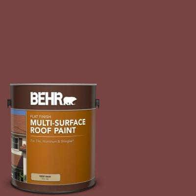 1 gal. #PFC-04 Tile Red Flat Multi-Surface Exterior Roof Paint