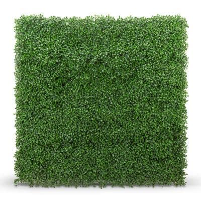 20 in. x 20 in. Boxwood Foliage Indoor/Outdoor Artificial Hedge Panels (8-Pack)