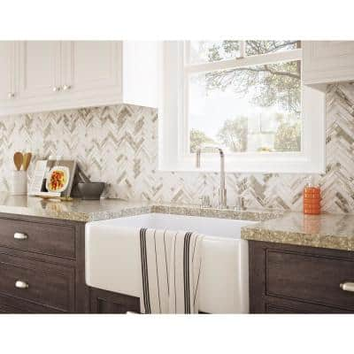 Rustica Gray 12.20 in. x 11.57 in. x 5mm Glass Peel and Stick Wall Mosaic Tile (11.04 sq. ft./case)