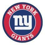 NFL New York Giants Red 2 ft. x 2 ft. Round Area Rug