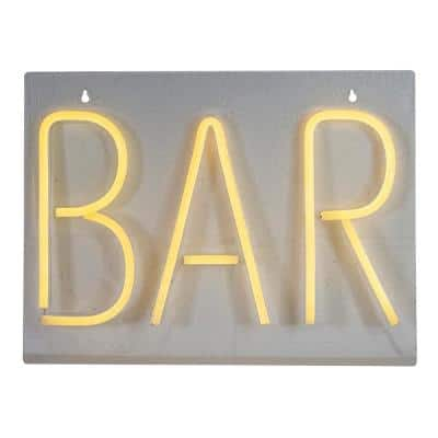 16 in. Bright Orange Neon Style Bar LED Lighted Wall Sign