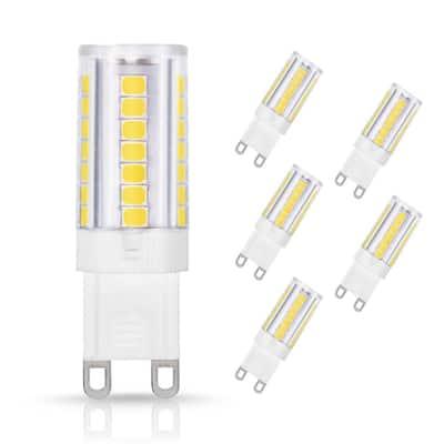 40-Watt Equivalent Non-Dimmable LED Light Bulb G9 Base in Daylight White 6000K (5-Pack)