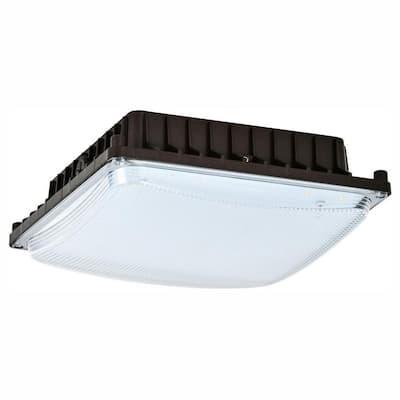 50-Watt Bronze Indoor/Outdoor Integrated LED Area Light Ceiling/Wall Mountable
