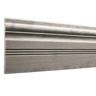 Prestained Gray 15/32 in. x 5-1/2 in. x 96 in. Wood Base Moulding