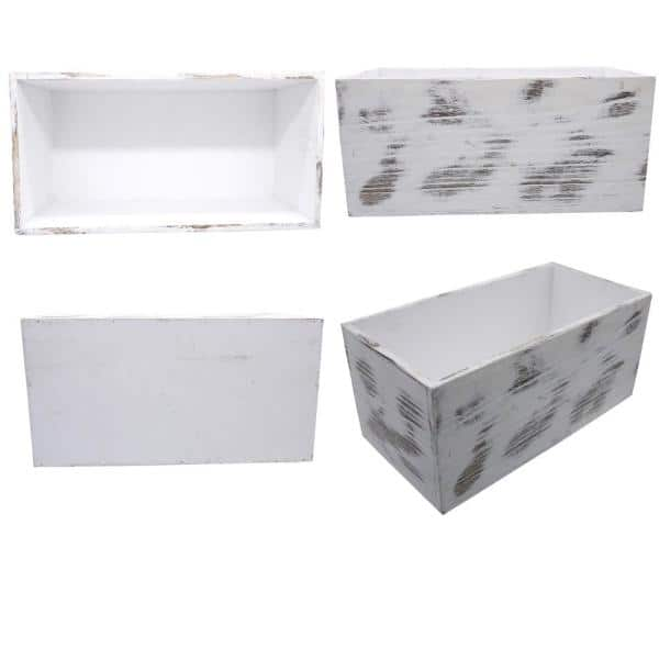Admired By Nature Got Mail Decor Box Wooden Mail Box Farmhouse Rustic Wood Crate Home Decor White Abn5e155 Wht Abn5e155 Wht The Home Depot