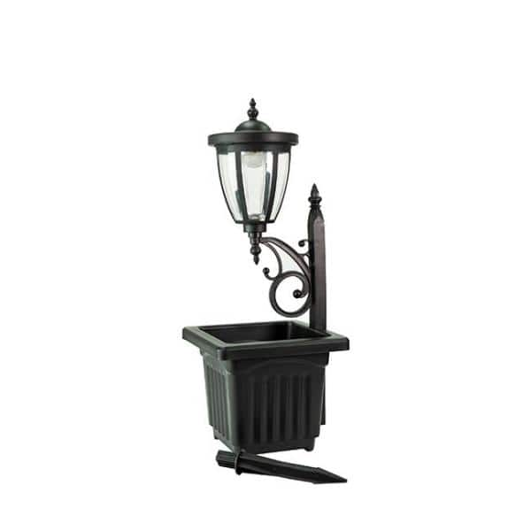 Sunray Kambria 29 In Black Multi, Multi Light Lamp Post