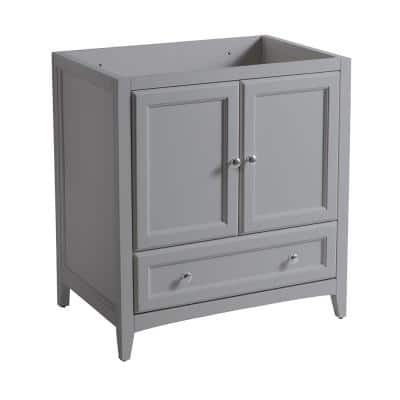 Oxford 30 in. W Traditional Bath Vanity Cabinet Only in Gray