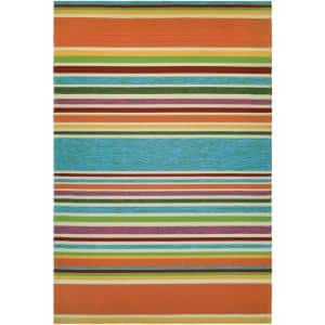 Covington Sherbet Stripe Multi 6 ft. x 8 ft. Indoor/Outdoor Area Rug
