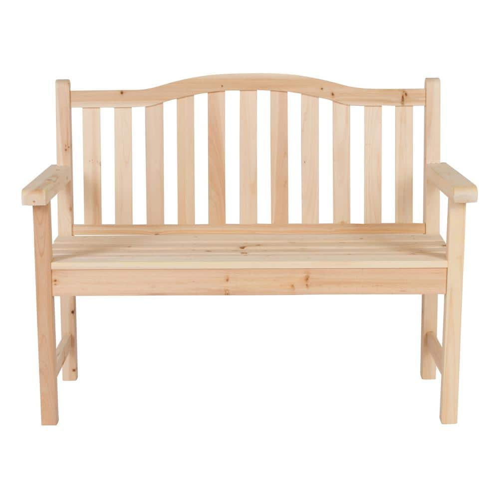 Shine Company Belfort 43 25 In Wood Outdoor Garden Bench In Natural 4212n The Home Depot