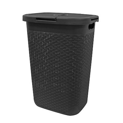 MH Grey Rattan Laundry Hamper 60L