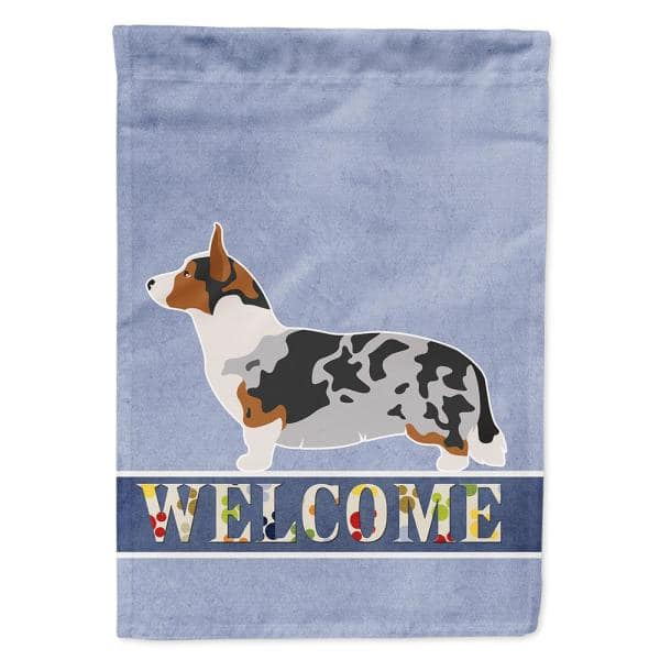 Caroline S Treasures 11 In X 15 1 2 In Polyester Welsh Corgi Cardigan Welcome 2 Sided 2 Ply Garden Flag Bb8313gf The Home Depot
