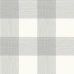 Common Thread Black On White Striped Paper Strippable Wallpaper Roll (Covers 56 Sq. Ft.)