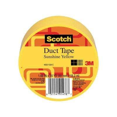 Scotch 1.88 in. x 20 yds. Yellow Duct Tape (Case of 6)