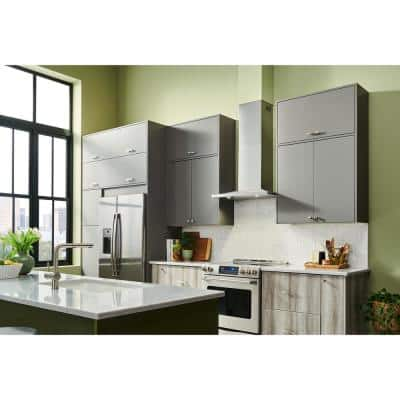 BWS2 30 in. 450 Max Blower CFM Convertible Wall-Mount Low Profile Pyramidal Chimney Range Hood in Stainless Steel