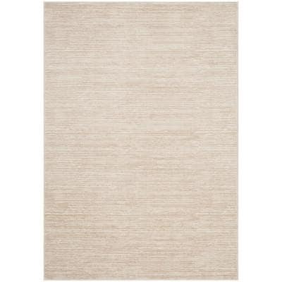 Vision Cream 6 ft. x 9 ft. Solid Area Rug