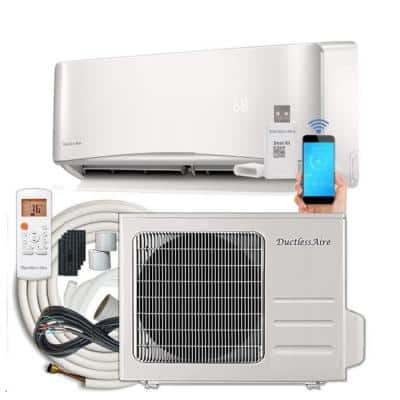 21 SEER 9, 000 BTU 0.75 Ton Ductless Mini Split Air Conditioner with Heat Pump - 230-Volt/60 Hz