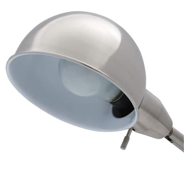 Hampton Bay - 22 in. Brushed Steel Table Lamp